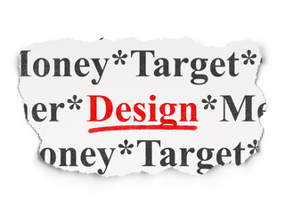 Advertising concept: Design on Paper background