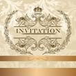 Elegant  invitation card in light  colors