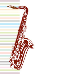 Saxophone design. Musical background