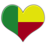 Heart with flag of Benin