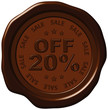 twenty percent discount on wax seal