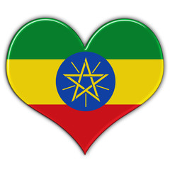 Heart with flag of Ethiopia