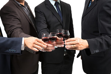 human hands with wine
