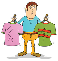 choosing clothes
