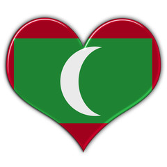 Heart with flag of Maldives