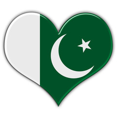Heart with flag of Pakistan