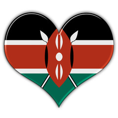 Heart with flag of Kenya