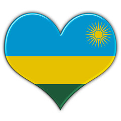 Heart with flag of Rwanda