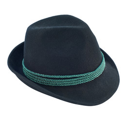 Dark fedora like hat isolated