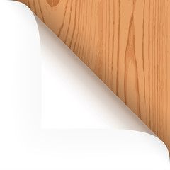 Papier - Ecke oben Holz-Struktur