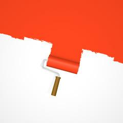 Hintergrund Farbroller - Neuanstrich rot