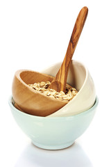 bowl of oat flake