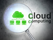 Cloud technology concept: Cloud Network and Cloud Computing with
