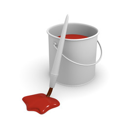 Red glossy paint