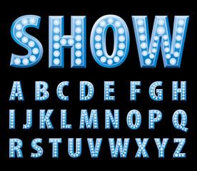 blue show alphabet