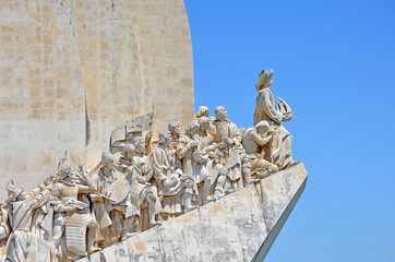 Monumento a los descubridores en Belem en Lisboa Portugal
