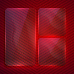 abstract background with transparent glass banners