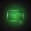 abstract background with glass transparent speech bubble