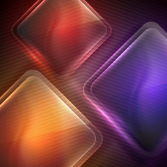 abstract background with transparent glass squares