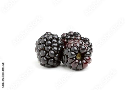 Three large blackberries.