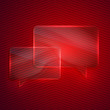 abstract red background with glass transparent speech bubbles