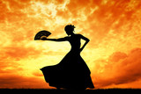 Fototapety Woman dancing flamenco
