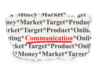 Advertising concept: Communication on Paper background