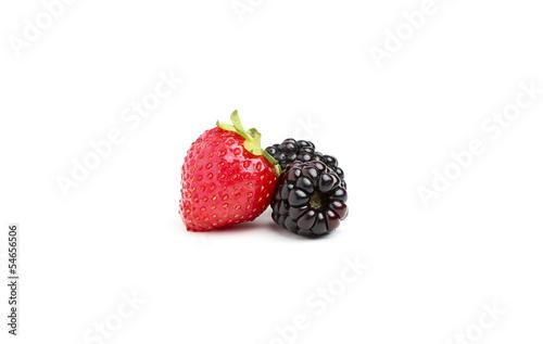 Strawberries and blackberries.
