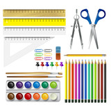 School supplies. Vector illustration