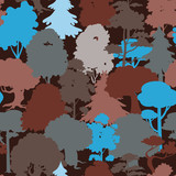 seamless forest camouflage pattern - 54657508