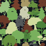 forest camouflage seamless pattern - 54657572