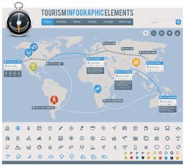 Tourism infographic elements