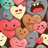 hearts seamless pattern - 54657745