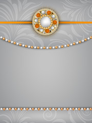 Happy Raksha Bandhan Indian festival background .