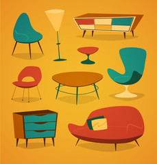 Retro styled modern furniture