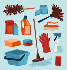 Cleaning tools. Household series.
