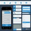 Interface elements using flat design