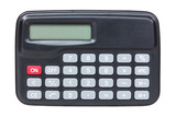 Top view of black calculator