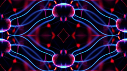 cool abstract light pattern made from an electric plasma ball