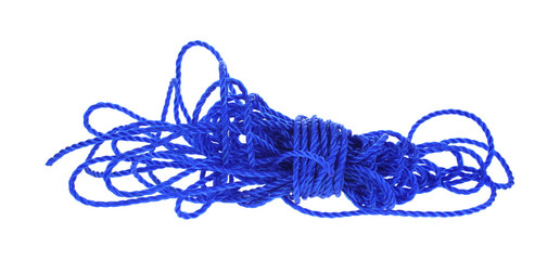 Strong Blue Poly Rope Unwound