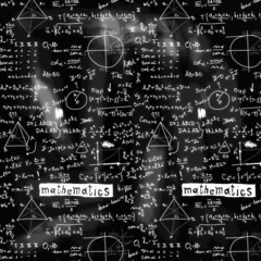 doodle maths blackboard seamless background, texture and pattern