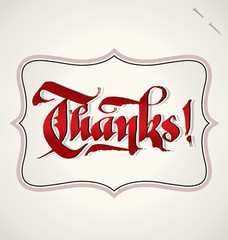 THANKS hand lettering (vector)
