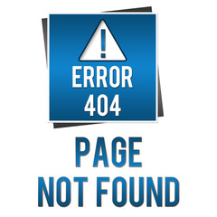 404 Page Not Found - Blue Square