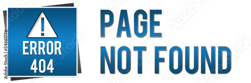 404 Page Not Found - Blue Banner