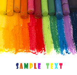 colorful artistic crayons background