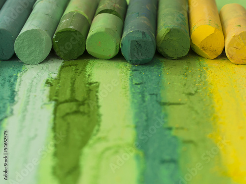 colorful artistic crayons background - 54662575