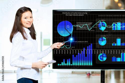 Young woman at presentation