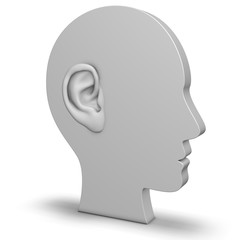 Kopf mit Ohr