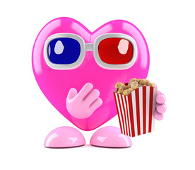3d Heart at the cinema