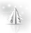 Christmas background with Paper Christmas tree, vector illustrat